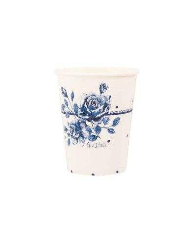 bicchiere english rose- 8 pezzi
