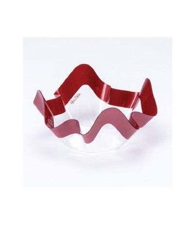 ciotolina plastica bordo rosso- 13 cm