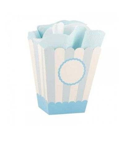 scatole party box azzurro- 4 pezzi