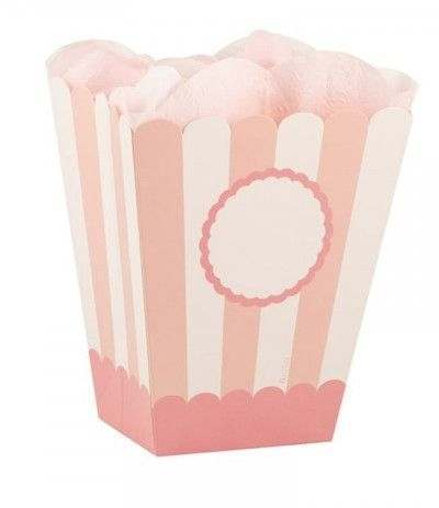 scatole party box rosa- 4 pezzi