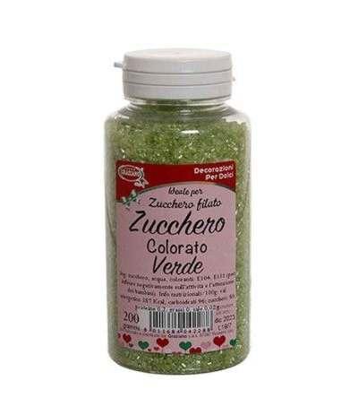 zucchero colorato verde- 200 gr