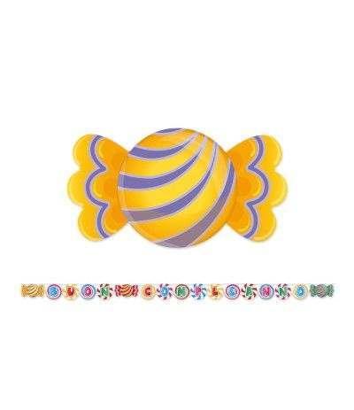 festone buon compleanno caramelle- 6 mt