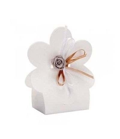 scatolina bianca fiore- 10 pezzi