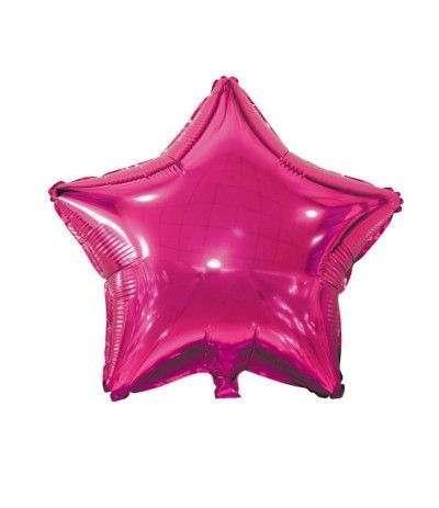 palloncino mylar stella fucsia- 45 cm