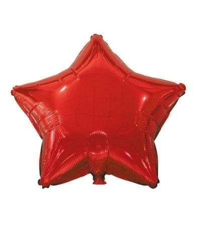 palloncino mylar stella rossa- 45 cm