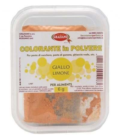 Colorante in polvere giallo limone 6gr