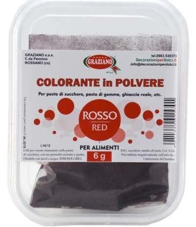 Colorante in polvere rosso 6gr