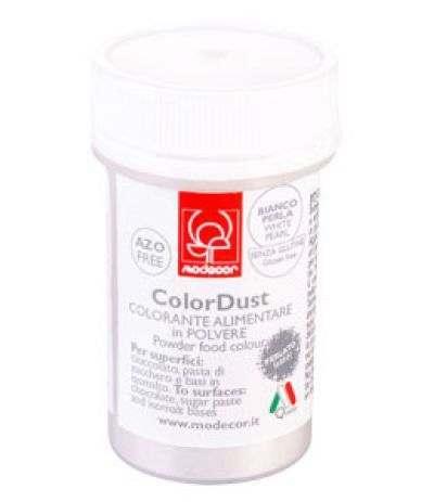 Modecor - colorante alimentare in polvere bianco perlato gr. 3 senza glutine