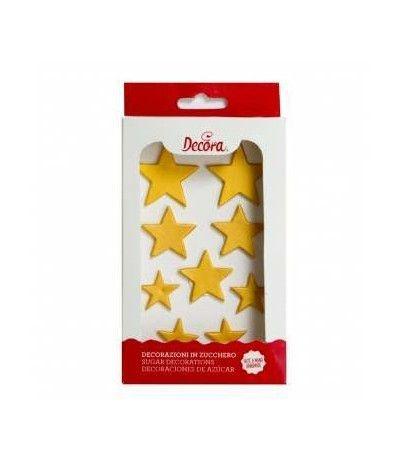 kit stelle oro zucchero- 9 pezzi