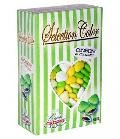 cuoricini crispo verde sfumato- 500 gr