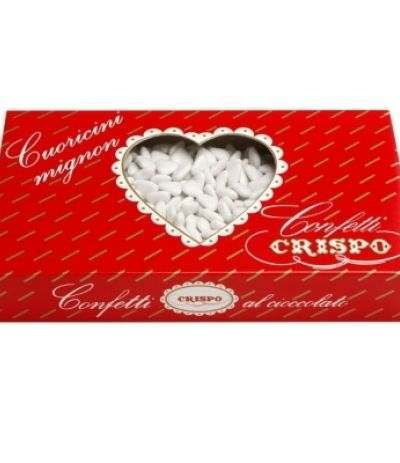 confetti crispo cuoricini bianchi- 1 kg
