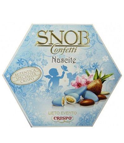 confetti incartati azzurri snob- 500 gr