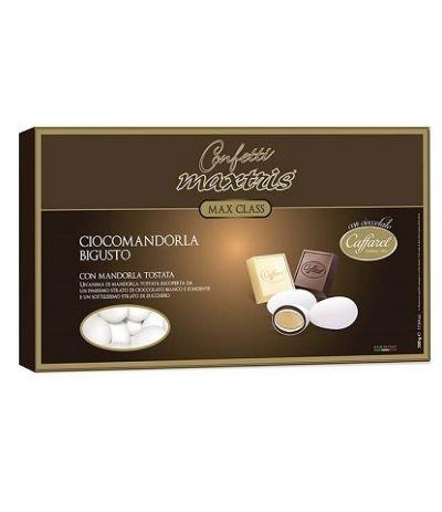 confetti maxtris/caffarel ciocomandorla bigusto bianco- 500 gr