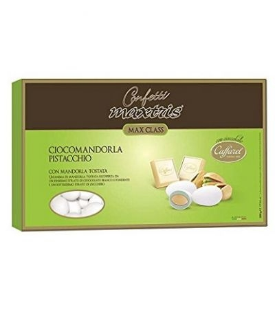 confetti maxtris/caffarel pistacchio- 500 gr