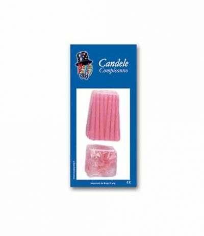 candeline rosa- 12 pezzi