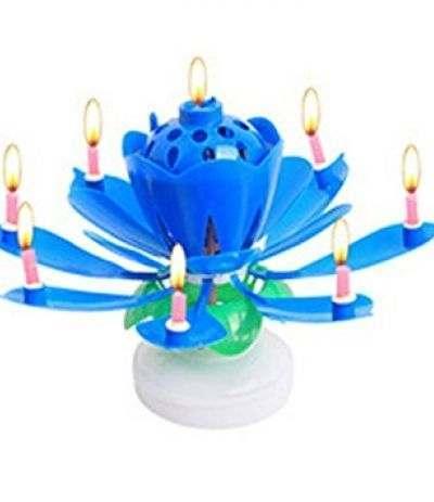 fiore musicale blu- 12 cm