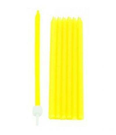 candeline alte spesse giallo