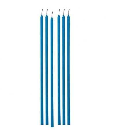candelina alta spessa azzurra- 20 cm