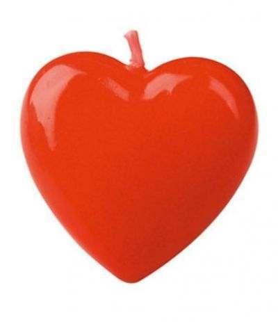 candelina cuoricino rosso - 4 cm