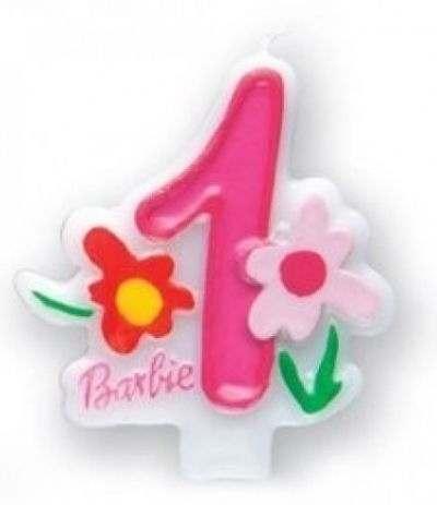 Candela Compleanno Numero 1 Barbie- 7,5 cm