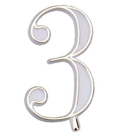 numerino plastica 3- 4,5 cm