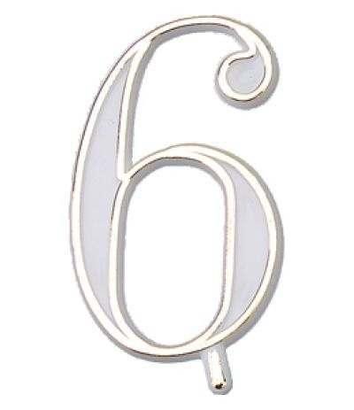 numerino plastica 6- 4,5 cm