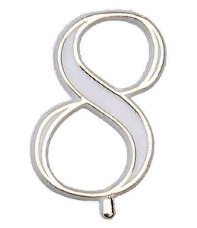 numerino plastica 8- 4,5 cm