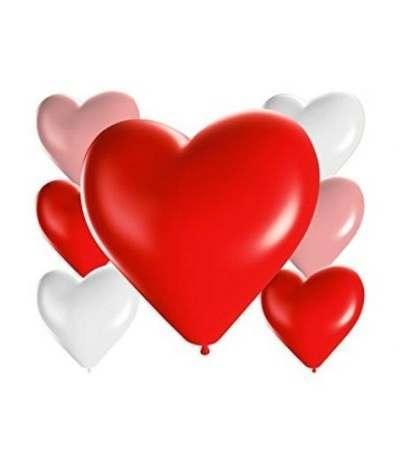 palloncini lattice cuore assortito