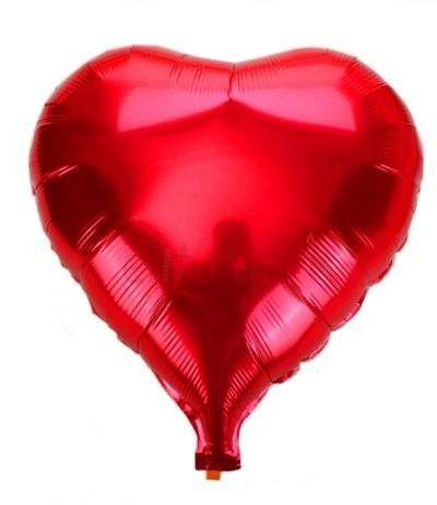 palloncino cuore mylar rosso