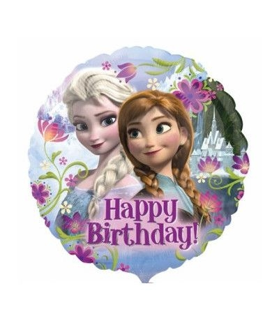 Palloncino Mylar Happy Birthday Frozen