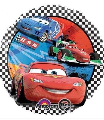Palloncino Mylar Tondo Cars