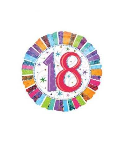 palloncino mylar 18 anni multicolor- 45 cm