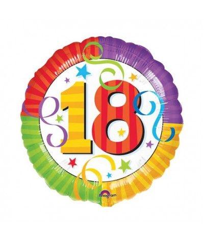 palloncino mylar 18 anni colorato- 43 cm