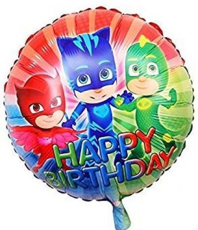 "Palloncino Mylar ""Happy Birthday"" Super Pigiamini Pj Masks- 43 cm"