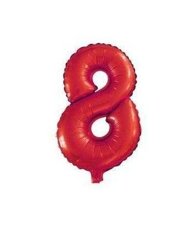pallone mayler numero 8 rosso 1mt