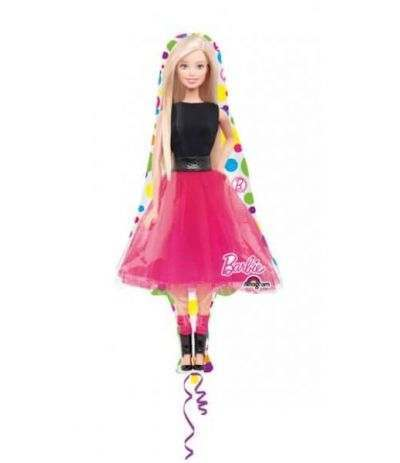 Palloncino Mylar Mini Shape Barbie- 30 cm