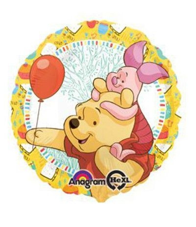 Palloncino Mylar Tondo Winnie The Pooh- 43 cm