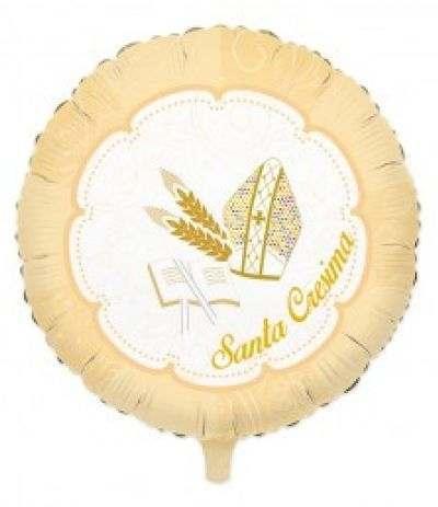 palloncino mylar santa cresima- 45 cm