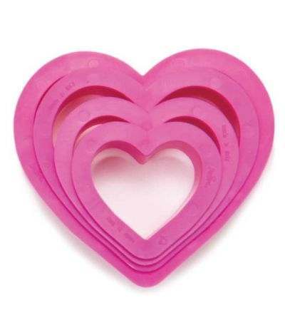 Set 4 tagliapasta cuore - Decora