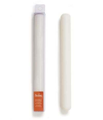 Mattarello decora, Plastica, Bianco 25 x 2, 5 cm
