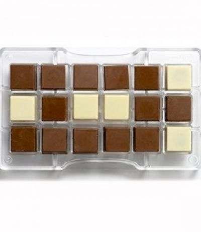 stampo per cioccolatini quadro
