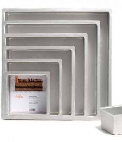 teglia anodizzata quadrata- 7,5 h x 20 x 20 cm