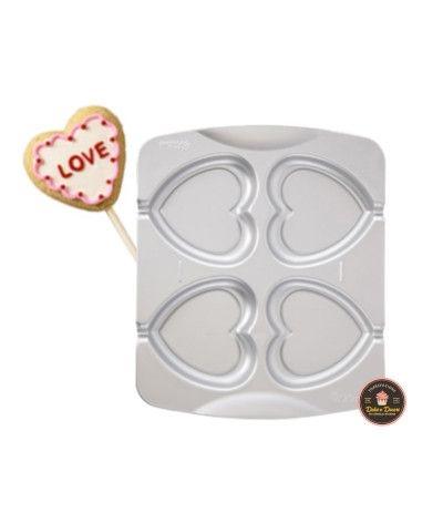Piastra biscotti cuore 4 cavità - Wilton