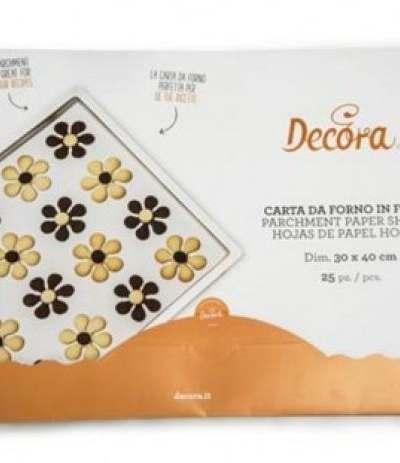 carta da forno in fogli decora- 25 pezzi 30 x 40 cm