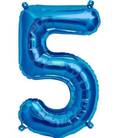 palloncino numero 5 blu- 40 cm