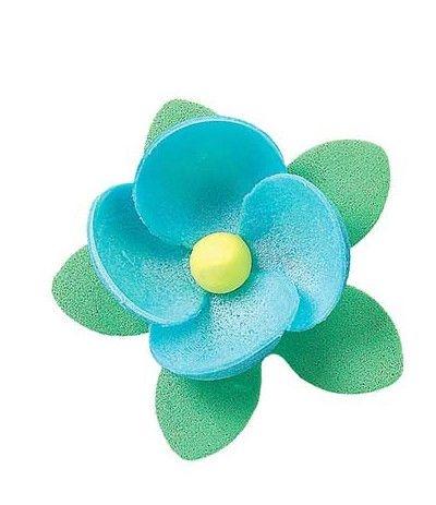 fiori azzurri- 8 pezzi