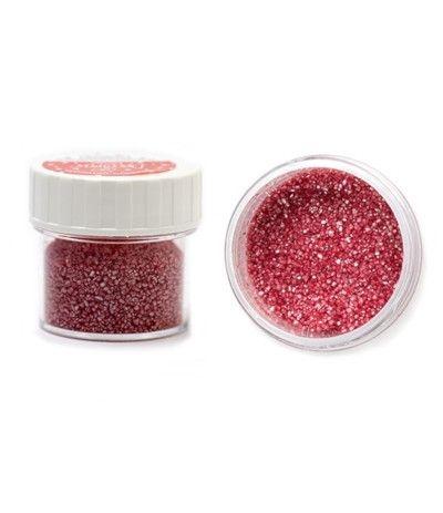 zucchero glitterato rosso corallo