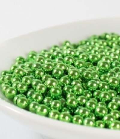perle metallizzate verdi crispo