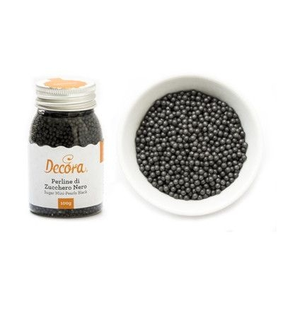 perline di zucchero decora nero