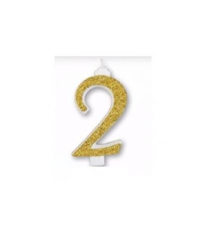 candela gigante oro n 2- 13 cm